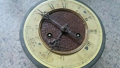 Vintage Wall Clock Movement.with Hands.requiring Parts, For Spares Or Repairs.
