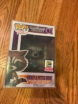 Funko Pop, Guardians of the Galaxy, Rocket Racoon w/Potted Groot , SDCC 2015 Ex