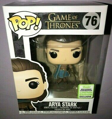 Funko POP ARYA STARK #76 GAME OF THRONES ECCC EXCLUSIVE **NEW**