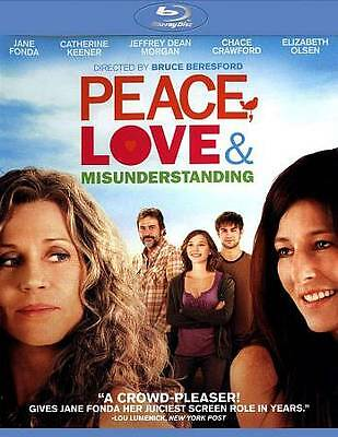 `PEACE LOVE AND MISUNDERSTANDING  Blu-Ray NEW Free 1st Class Ship