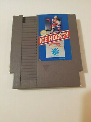 Ice Hockey (Nintendo Entertainment System, NES, 1988) Game Tested & FREE SHIP.