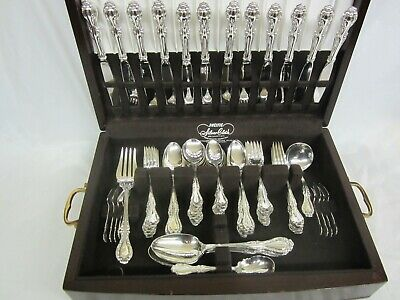 12 Place Setting Cello Northumbria Sterling with Extras 88 Pieces Excellent
