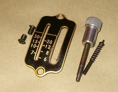 Original Singer Sewing Machine  99 Stitch Length Plate with Levers