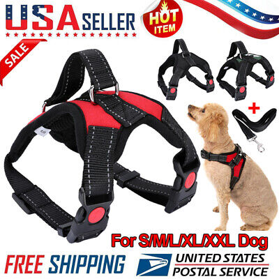 No Pull Dog Pet Vest Harness Strap Adjustable Nylon Small Mediu/Large/XL/XXL Dog