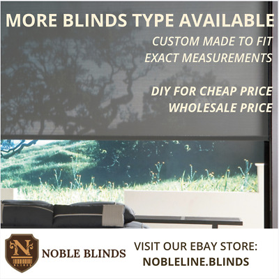 LIMITED SALE! Quality Grey Roller blinds (Premium Sunscreen) Custom Made to Fit
