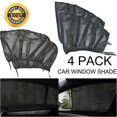 2 Auto Sun Shade Front + 2 Rear Window Screen Cover Sunshade Protector For Car