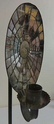 Antique Oval Shaped Mercury Glass Wall Candle Sconce Ca. 19th Century
