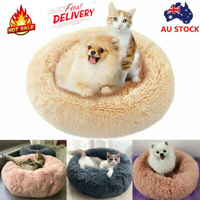 2019Pet Calming Bed Round Nest Warm Soft Plush Comfortable Small Medium Large A