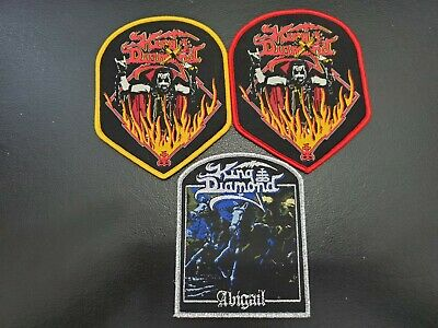 KING DIAMOND Music Band 3 pcs set heavy metal Patch Embroidered Woven Badge