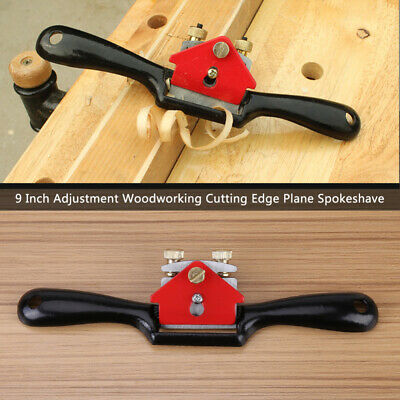 9'' Metal Woodworking Manual Planer Plane Blade Spoke Shave Deburring Hand Tools