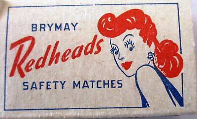 10 Brymar Redheads Matchboxes Made in Australia Contents 60 - Delivery Included