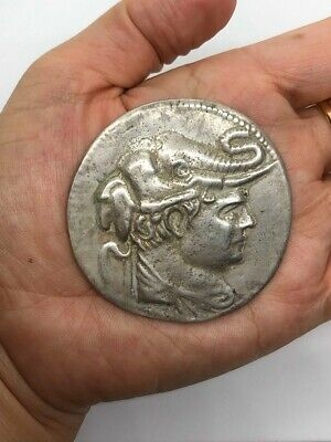 (51.66g)ANCIENT SILVER Coin Demetrius of Bactria Greek Buddhist King ,c.200 BCE