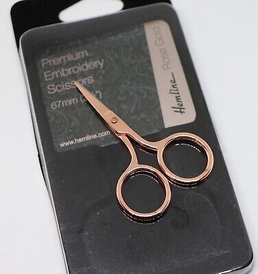 """Premium Embroidery Scissors 67mm (2½"""") Rose Gold. An excellent Gift Idea"""