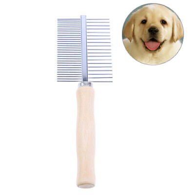 1pc Dog Comb Stainless Dog Grooming Brush For Dogs Cat Removed Flea Combs _WK