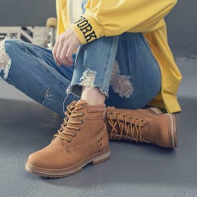 Womens Ridding Shoes Lace Up Ankle Boots Lace Up Warm Casual Girls Girls Fashion