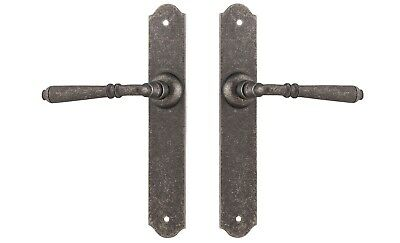 REIMS-LEVERS ON PLATE-PAIR-3 NICKEL FINISH-tradco-FORGED SOLID BRASS-provincial
