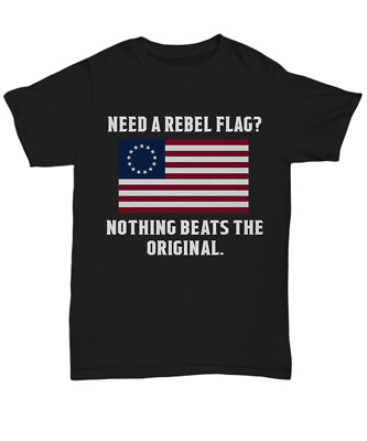 Betsy Ross American Flag T-Shirt 13 Stars Original Colonies USA Unisex Tee Gifts