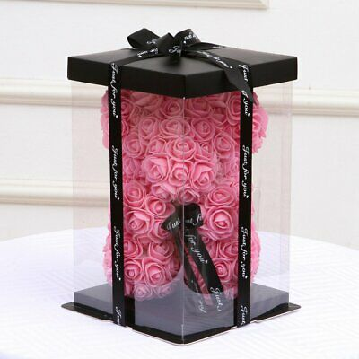 Empty Gift Box for Artificial Teddy Bear Rose Flower Gifts Box (bear not include