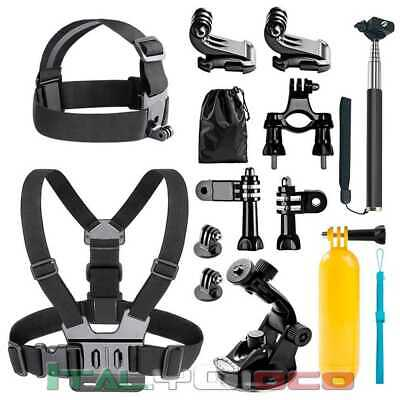 15-in-1 Accessori Kit di Action Cam per GoPro Hero 3 4 5 Session Hero Momopiede
