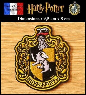 Écusson Brodé Thermocollant NEUF Patch Embroidered Potter Poufsouffle Hufflepuff