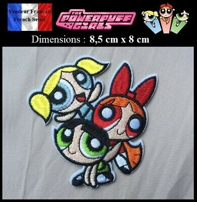 Écusson Brodé Thermocollant NEUF ( Patch Embroidered ) - Super Nanas Powerpuff
