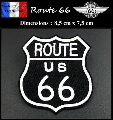 Écusson Brodé Thermocollant NEUF ( Patch Embroidered ) - Route 66 ( Ref 3 )