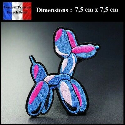 Écusson Brodé Thermocollant NEUF ( Patch Embroidered ) - Chien ballons Dog