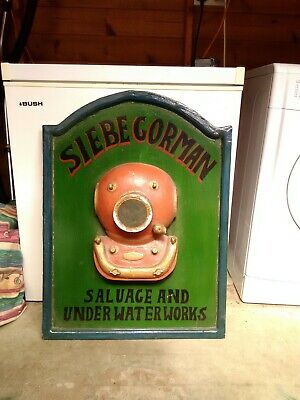 "Siebe Gorman  Advertising Wooden Large Sign /Plaque 30"" X 22"""
