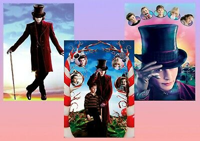 CHARLIE AND THE CHOCOLATE FACTORY DEPP MOVIE POSTER FILM A4 A3 ART PRINT CINEMA