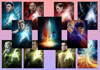 Star Trek Beyond: Kirk, Spock, Uhura, Sulu   A5 A4 A3 Character Movie Posters