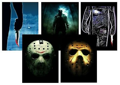 Friday the 13th:  Jason Hockey  A5 A4 A3 Textless Movie Posters
