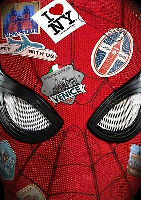 Marvel SPIDER-MAN: Far From Home, Tom Holland A5 A4 A3 Textless Teaser Poster !!