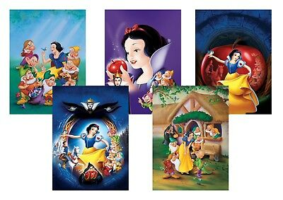 Disney Snow White & the Seven Dwarfs  A5 A4 A3 Classic Textless Movie Poster