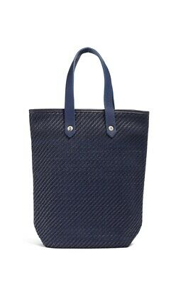 pre-loved authentic HERMÈS indigo AHMEDABAD woven leather PM Tote $3600