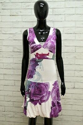 Vestito DESIGUAL Donna Taglia Size M Abito Tubino Dress Woman Floreale Estate
