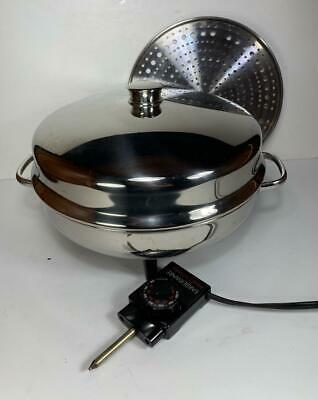 "Farberware Buffet Server Electric Skillet Immersible Fry/Dome Pan 12"" 344-A 344A"