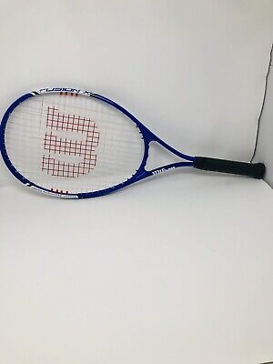 Wilson Fusion XL Matrix Blue White Tennis Racquet Racket 3 3/8 Grip