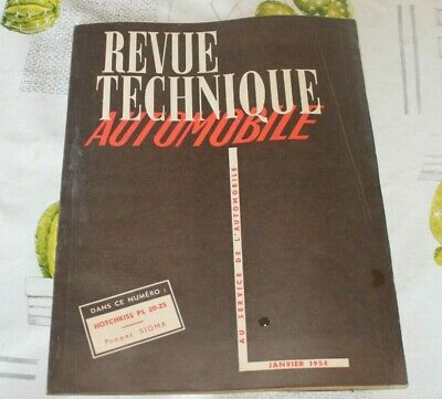 revue technique automobile RTA HOTCHKISS PL 20-25