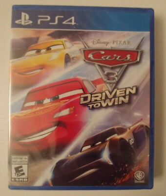 Cars 3 Driven To Win Ps4 - Brand New Sealed Playstation 4