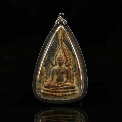 Chinese Buddhist collection Old copper handmade Buddha brand Pendant