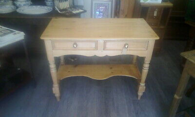 Lovely Antique Pine Hall Table Console Table with 2 Drawers