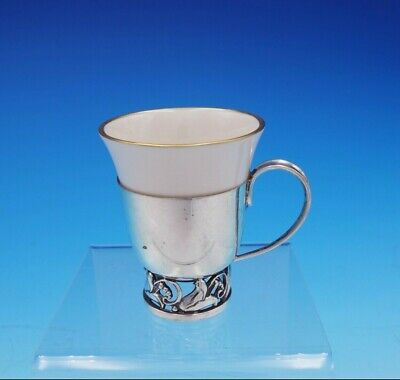 La Paglia by International Sterling Silver Demitasse Cup #118 Lenox Liner #3427