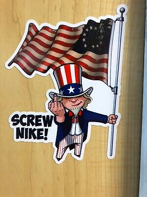 Nike Betsy Ross Flag Colin Kaepernick Spoof Funny Sticker Decal Screw Nike