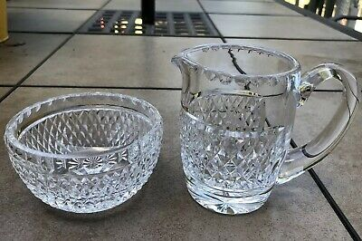 Waterford Crystal GIFTWARE Creamer & Open Sugar Bowl Set Excellent Condition