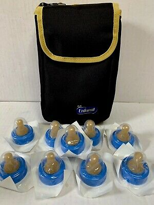 Enfamil Standard Flow Soft Disposable Baby Nipples (9) & Insulated Bottle Case