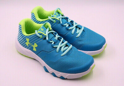 Kids Girls Under Armour Primed 2 Blue Shift Athletic Shoe Multi Size NEW