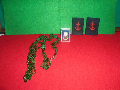 mixed lot 3 pieces,necklace green glass beads ,thimble Disneyland,Patch Badge