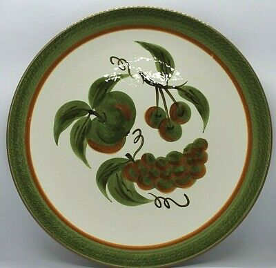 """Stangl Hand Painted Orchard Song 12"""" Platter / Chop Plate Oven Proof"""