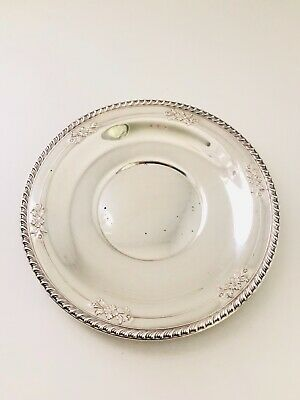 "Wallace Sterling Silver Sandwich Plate 225, 10"" 238.0 grams"