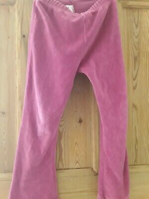 Girls Velour Pink Trousers Age 4-5